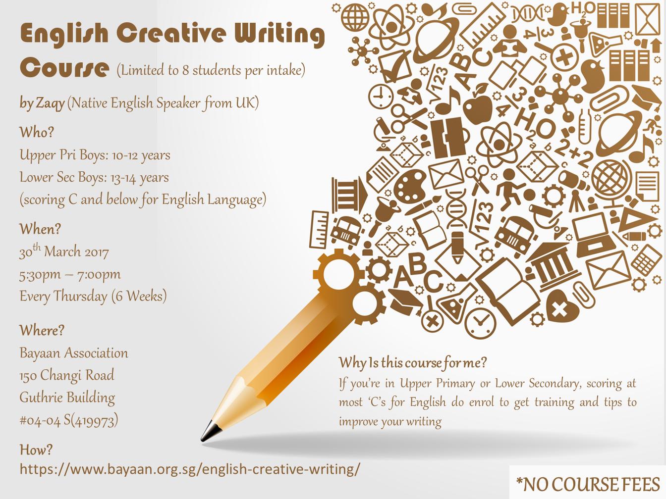 English creative writing essays